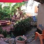 courtyard for the inn