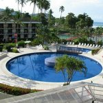 Zona de piscina del hotel
