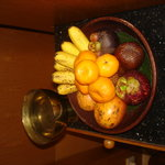 Amanjiwo's welcome exotic fruit basket