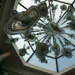 espectacular lampara de cristal gigante