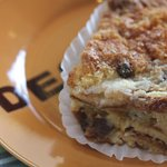 Classic cinnamon-raisin bread pudding