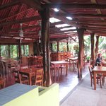 Open air restaurant and bar at the hotel