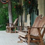 Relax on the covered porches
