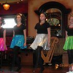 The Irish dancers after our supper