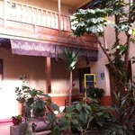 the internal courtyard