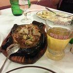 Pollo alla piastra e birra cinese