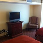 Bedroom sitting area and flatscreen