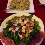 Great salad and pesto