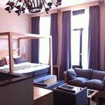 Jr Suite bedroom - cool lamp
