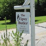 The Tipsy Butler Sign