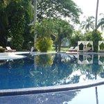 Pristine pool on main resort grounds