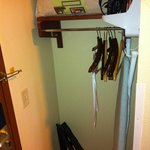 Closet area just inside the door