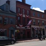 Newburyport shops & Grand Army Building (origin of Veteran's Adm and founders of Memorial Day)