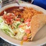 Taco and enchilada plate.