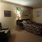 The Route 66 room was a lot of fun.