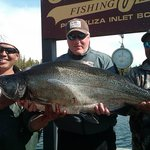 """This is what 46 lbs of Ocean Caught Wild """"King"""" salmon looks like....after 40 Minutes of fight!"""