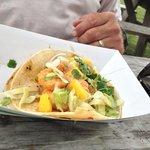 Mango Shrimp Tacos.
