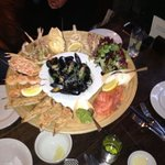 The spectacular seafood platter at The Angel