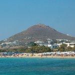 veduta del hotel dalla spiaggia