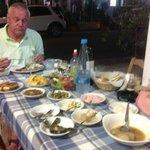 Enjoying the Meze at Pedoulas yummy