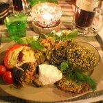 Mixed mezze main course