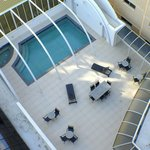 Outdoor heated pool and spa