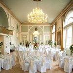 Ballroom set-up for a wedding