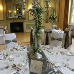 Ballroom set-up for wedding