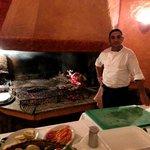 La griglia e la brace di Sottomonte, con lo chef