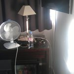 The air con...only a fan. need to ask at front desk