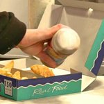 Traditional Freshly Cooked Fish & Chips at Manchipster Plaice