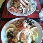 Assiette du pêcheur et choucoute de la mer