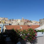 View up to Cagliari from the roof terrace