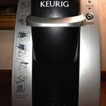 Keurig Coffee Maker in every room with a selection of coffees and teas
