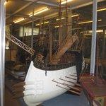 Model of ancient roman ship