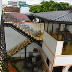 View of the stairs from the Balcony in RM 25.