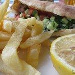 Kebab in pita