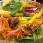 Fresh mango salad with shrimp