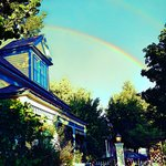 Double Rainbow over Dream Inn. Photo by Lonna