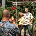 Taking that wonderful vacation photo at Dream Inn. Photo by Lonna