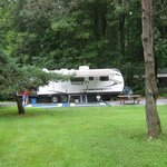 Spacious RV sites give you plenty of room to put your slides out and stretch your legs