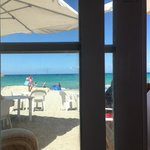 View of beach from inside Banana