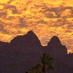 "View of the Sierra de la Giganta"" mountains"