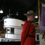 Royal Canadian Mounted Police at dedication of BCP45
