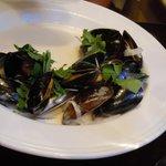 Half eaten mussels