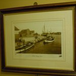 Old print of Poole from restaurant