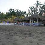 Beach in front of the resort