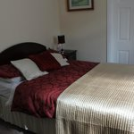 (Room 4) Bed was made up better when we arrived! Only thought to take the photo the next morning