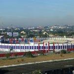 Vista dos quartos de frente, estádio do Paraná.