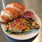 the loaded frittata & croissant $5.95